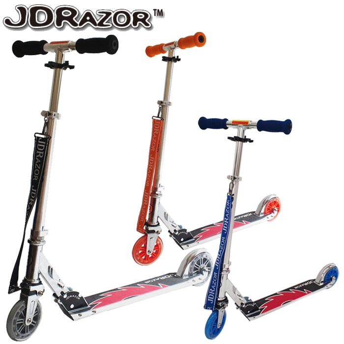 【ポイントアップ祭!】JD Razor キックスクーター キックスケーター キックボード ショルダーストラップ付きMS-105A2
