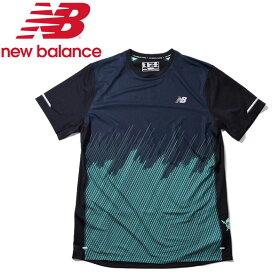 【2点までメール便送料無料】ニューバランス NB HANZO NBICE プリントショートスリーブTシャツ AMT83200-NEM メンズ 2019年春夏