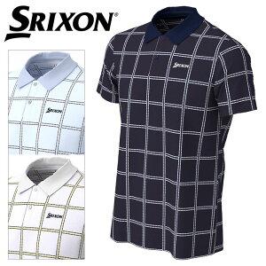 スリクソン COOLISTクロスストライププリントシャツ メンズ 春夏 ゴルフウェア RGMPJA02