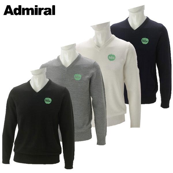 アドミラル ゴルフウェア メンズ THE BEATLES アビーロード Vネックニット ADMA765 2017秋冬
