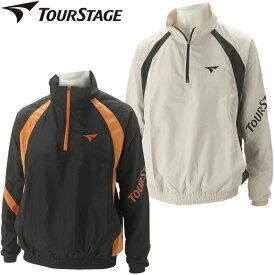 【在庫処分】ツアーステージ ゴルフウェア メンズ ハーフジップ裏メッシュブルゾン ITM01D 秋冬