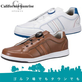 カリフォルニアサンライズ スパイクレス ゴルフシューズ メンズ ダイヤル式 CSSH-3721 California Sunrise