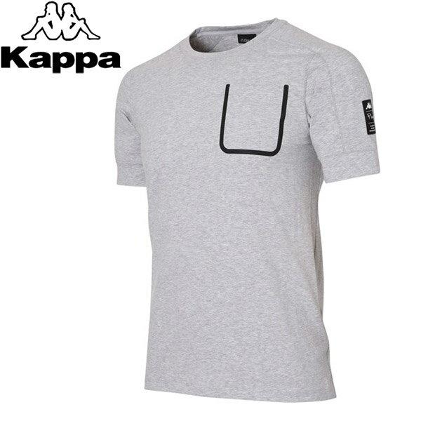 【2枚までメール便対応】カッパ 半袖Tシャツ メンズ トレーニング KL752TS02 Kappa 17FW 2017年秋冬【規定の数量以上から宅配便で発送(送料加算)】