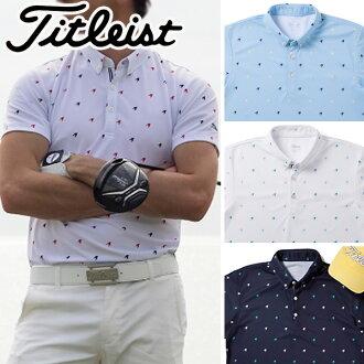 紧凑的清单高尔夫球服装人千鸟印刷衬衫TSMC1808 2018春天夏天