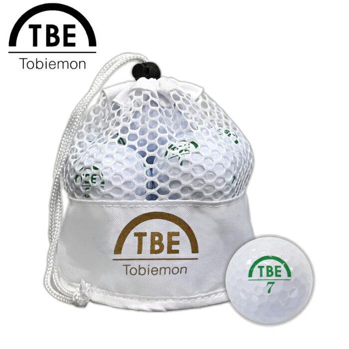 TOBIEMON 飛衛門 とびえもん ゴルフボール メッシュバッグ入りスタンダード2ピースボール 1ダース(12球入) ホワイト 公認球