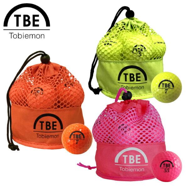 TOBIEMON 飛衛門 とびえもん ゴルフボール メッシュバッグ入りスタンダード2ピースボール 1ダース(12球入) カラー 公認球