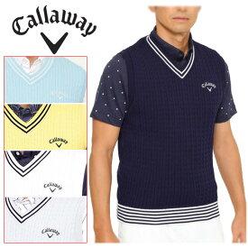 【在庫処分】キャロウェイ ゴルフウェア メンズ Vネックニットベスト 9161500 2019春夏