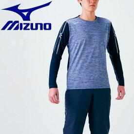 メール便送料無料 ミズノ トレーニングウエア Tシャツ (長袖) メンズ レディース 32MA063014