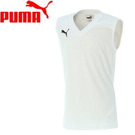 【2枚までメール便送料無料】17SS PUMA(プーマ) サッカー ノースリーブシャツ キッズ ジュニア インナー ESS Pro JR SL Inner Shirt 655278-02