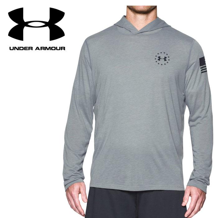 【あす楽対応】 【並行輸入品】 アンダーアーマー UA FREEDOM TB POPOVER 1301249-025 メンズ 長袖Tシャツ