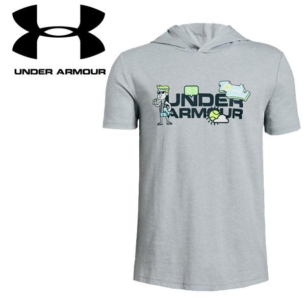 アンダーアーマー Tシャツ UAライバルアイコンワードマークフーディ 1329692 ジュニア 19SS