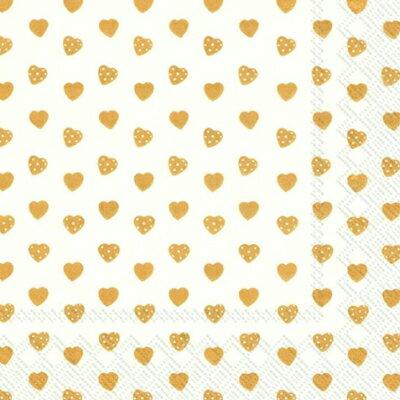 ファッション ペーパータオル ランチサイズ GOLD HEART 20枚入り