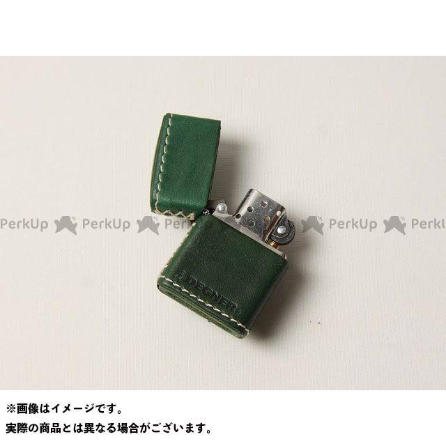送料無料 DEGNER デグナー 小物・ケース類 ZC-4 革張りジッポ グリーン