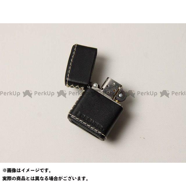 送料無料 DEGNER デグナー 小物・ケース類 ZC-4 革張りジッポ ブラック