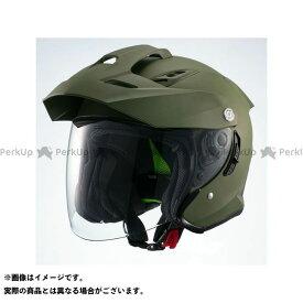 【エントリーで最大P21倍】【特価品】Marushin インナーバイザー付きジェットヘルメット MSJ1 TE-1(マットカーキ) サイズ:L マルシン