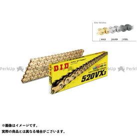 【特価品】ディーアイディー 汎用 ストリートチェーン 520VX3 カシメジョイントタイプ(ゴールド) リンク数:110L メーカー在庫あり DID