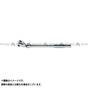 【無料雑誌付き】コーケン 3774PB 3/8(9.5mm)SQ. プッシュボタン式首振りラチェットハンドル(ポリッシュグリップ) 全長265mm Ko-ken