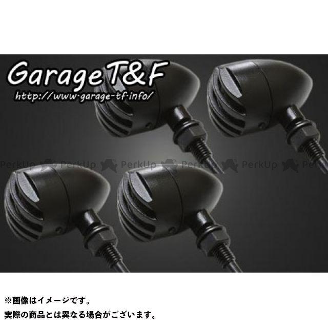 ガレージT&F ドラッグスター400 ウインカー関連パーツ バードゲージウィンカータイプ1 ダークレンズ仕様キット スタンダードモデル専用 ブラック メッキ