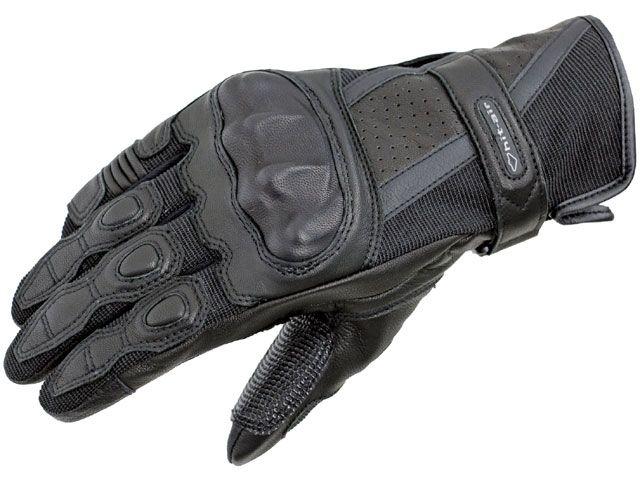 送料無料 hit air ヒットエアー ライディンググローブ Glove G7 プロテクターグローブ ブラック S