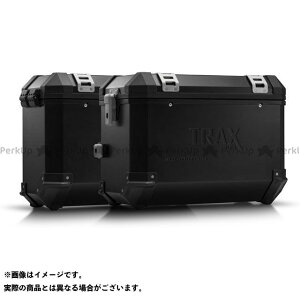 【ポイント最大19倍】SWモテック TRAX ION アルミ ケースシステム -ブラック- 45/37 l. BMW R 1200 GS LC/Adv(13-)、Rall.|KFT.07.6 SW-MOTECH