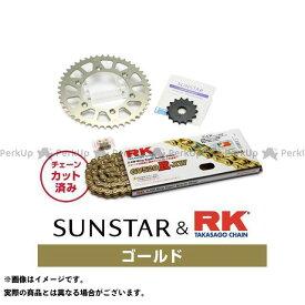 【エントリーで最大P21倍】【特価品】サンスター KLX250 KR31403 スプロケット&チェーンキット(ゴールド) SUNSTAR