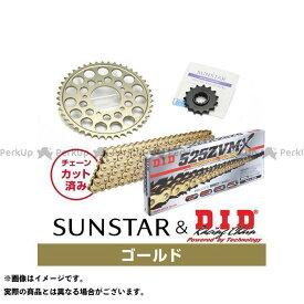【エントリーで最大P19倍】サンスター ZRX1200ダエグ KD40513 スプロケット&チェーンキット(ゴールド) SUNSTAR