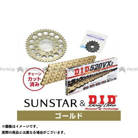 【エントリーで最大P19倍】サンスター ゼファー カイ KD3L503 スプロケット&チェーンキット(ゴールド) SUNSTAR