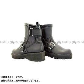 KADOYA カドヤ K'S LEATHER No.4316 BLACK ANKLE-A(ブラック) 22.5cm