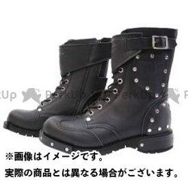 KADOYA カドヤ SHINYA REPLICA No.4512 HAMMER BOOTS SHORT ブラック×ブラック 25.5cm