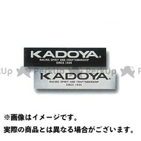 KADOYA カドヤ KADOYA STICKER シルバー×ブラック 小/80mm×20mm
