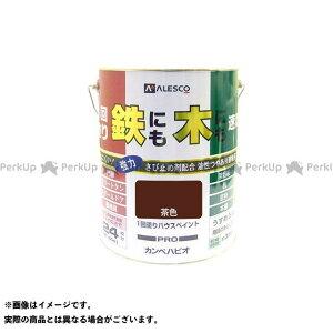【無料雑誌付き】カンペハピオ 1回塗りハウスペイント 茶色 4L Kanpe Hapio