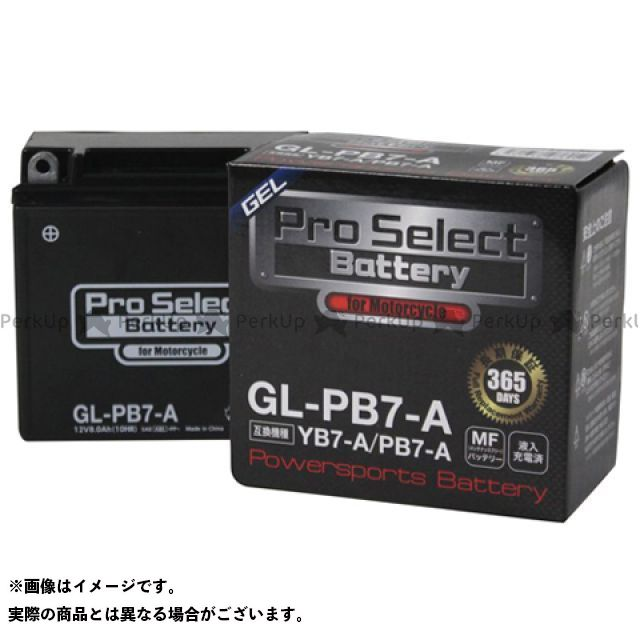 プロセレクトバッテリー 汎用 GL-PB7-A(YB7-A 互換)(液入)