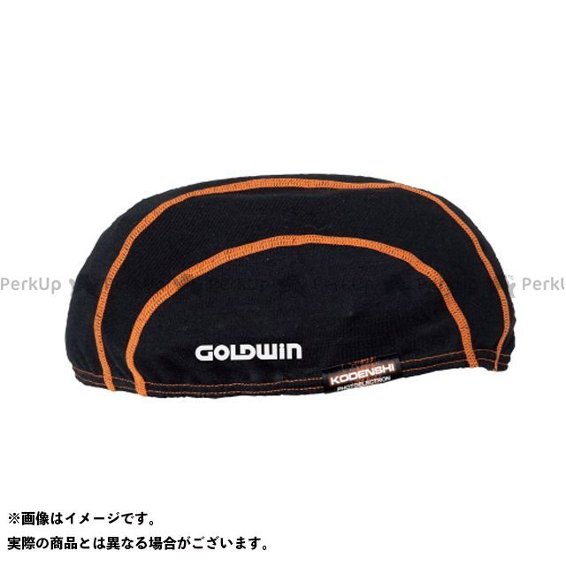 ゴールドウイン GOLDWIN ヘッドギア GSM19150 光電子インナーキャップ(ブラック×オレンジ)