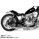 モーターロック W400 W650 W650/400用 バンブーマフラー/フレアエンド フルエキゾースト タイプ:LOW Motor Rock