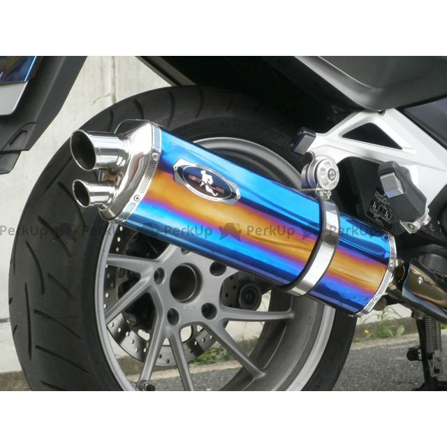 【送料無料】R-STYLE R1200RT LC レアルパイソン スリップオンマフラー タイプ:ヒートカラー R1200RT