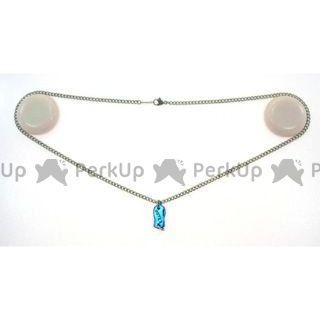 アウテックス OUTEX チタンネックレス 喜平 幅2.9(シルバーカラー/プレートT2エメラルドブルー) 50cm