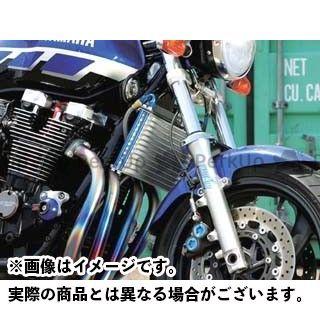 送料無料 プロト XJR1200 XJR1300 オイルクーラー ラウンドオイルクーラーキット(上出し) 13段#6 シルバー