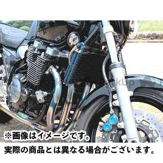 送料無料 プロト XJR1200 XJR1300 オイルクーラー ラウンドオイルクーラーキット(上出し) 13段#6 ブラック
