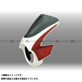 フォルスデザイン CB400スーパーフォア(CB400SF) CB400SF ビキニカウル カウルカラー:チタニウムブレードメタリック/キャンディープロミネンスレッド スクリーンカラー:スモーク スクリーンタイプ:エンデュランススクリーン FORCE …