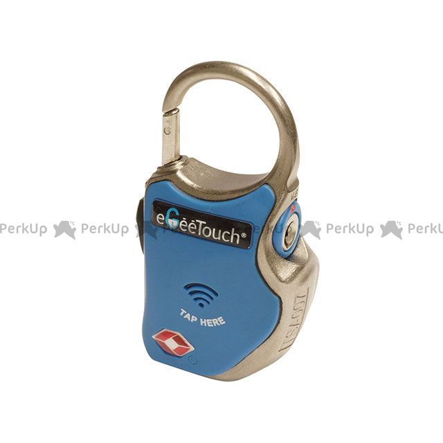 送料無料 eGeeTouch イージータッチ その他盗難防止グッズ スマートトラベルパドロック GT1000 ワイヤー同梱 TSA認証 ヘルメットロックや旅行に最適 ブルー