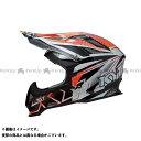 送料無料 KYT ケーワイティー オフロードヘルメット STRIKE EAGLE ストライプ レッド フロー XS/53-54cm