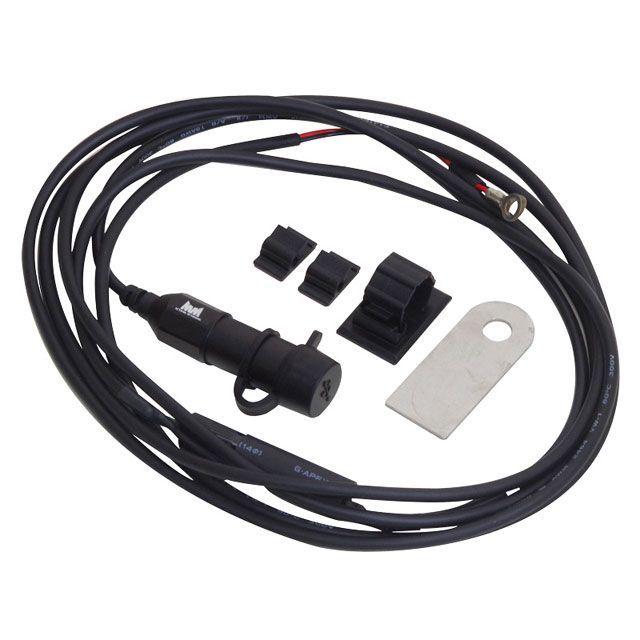 ワールドウォーク 汎用 その他電装パーツ バイク用防水アルミ製USBチャージャー(黒)