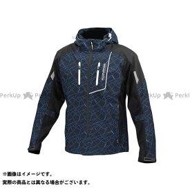 コミネ JK-112 プロテクトハーフメッシュパーカ-ゲンリ クラッシュ/ブラック WL KOMINE
