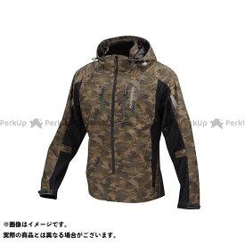 コミネ JK-112 プロテクトハーフメッシュパーカ-ゲンリ カモ/ブラック L KOMINE