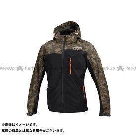 コミネ KOMINE JK-114 プロテクトメッシュパーカ-テン カモ/ブラック XL