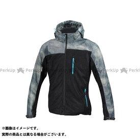コミネ KOMINE JK-114 プロテクトメッシュパーカ-テン スモーク/ブラック L