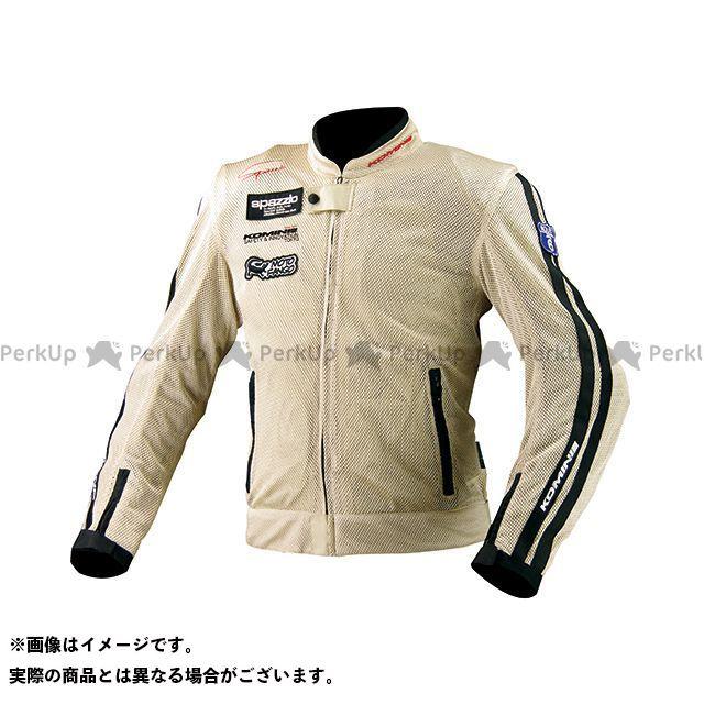 送料無料 コミネ KOMINE ジャケット JK-014 ライディングメッシュジャケット レジェンド シャンパンゴールド XL