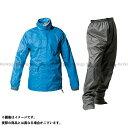 【送料無料】MAKKU PT-7200 ツーリング 透湿レインスーツ カラー:ブルー サイズ:LL