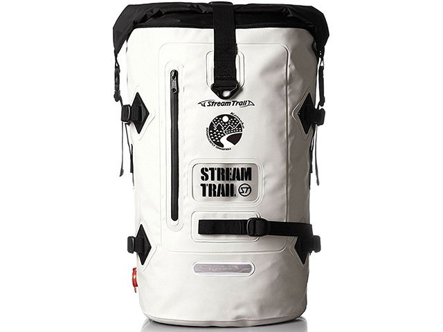 送料無料 ケメコ Kemeko ツーリング用バッグ Streamtrail コラボ 防水バックパック D2 40L ホワイト