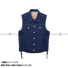 【エントリーでポイント10倍】 KADOYA カドヤ K'S PRODUCT No.6571 BIKER DENIM VEST 3(インディゴブルー) S